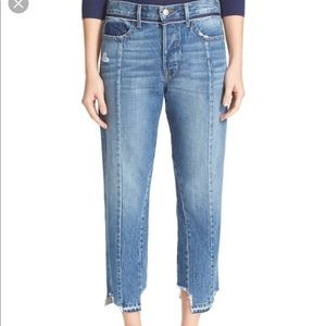 Frame Vintage High Waist Crop Jeans